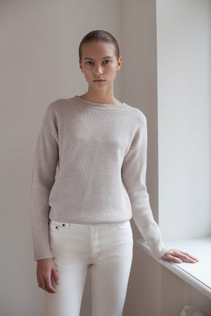 The New Fisherman's Rib Merino Sweater - Ecru