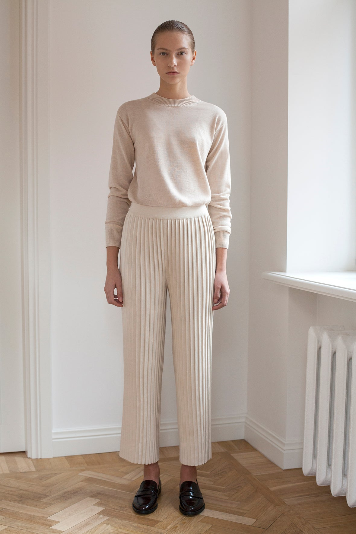 Pleated Pants - Ecru