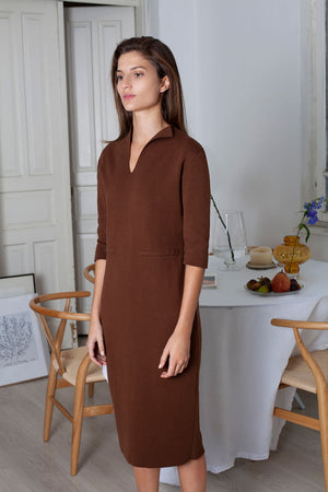 Form Dress - Chestnut (Organic Cotton)