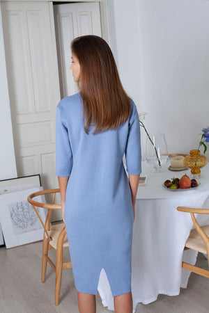 Form Dress - Sky Blue (Organic Cotton)