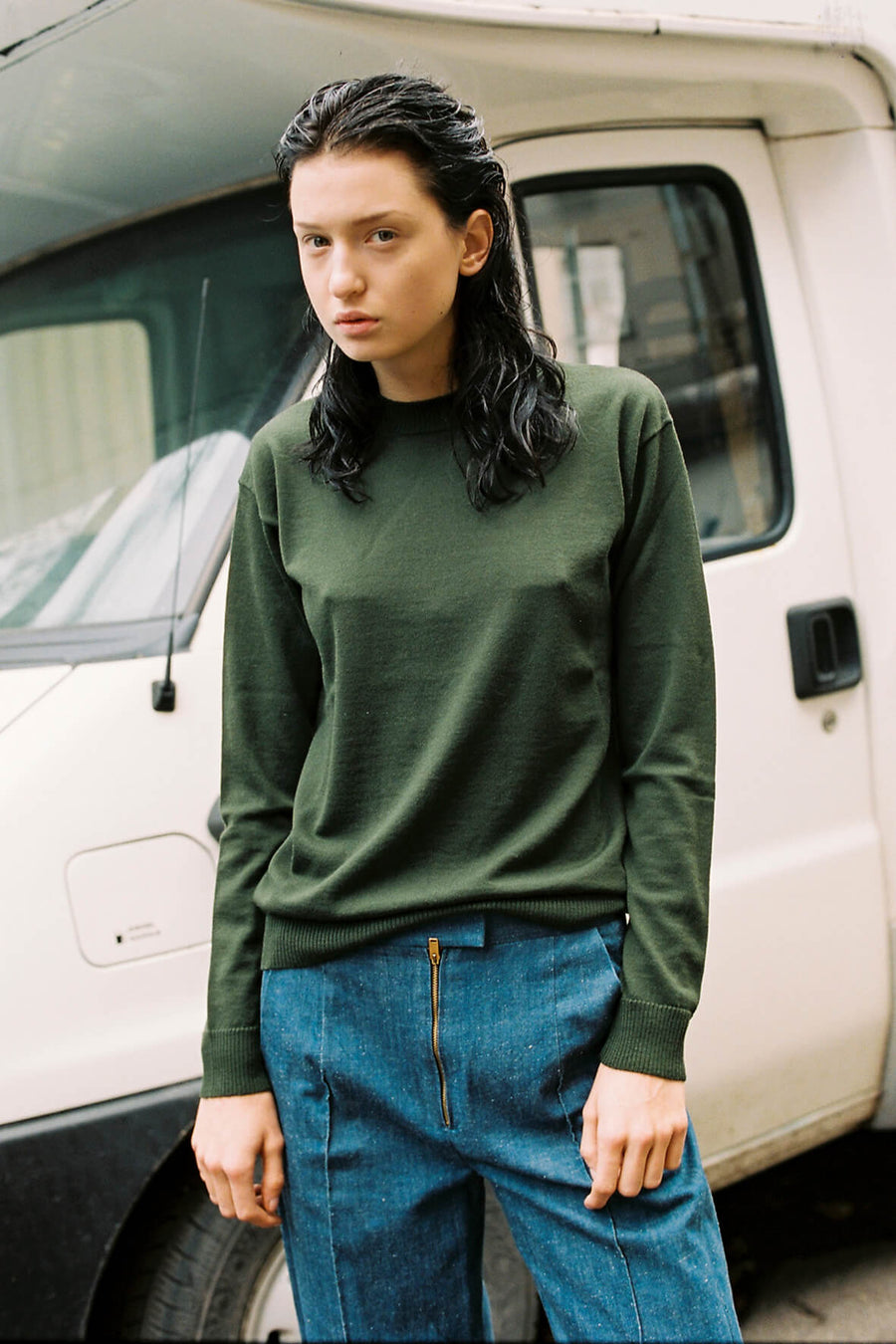 The New Essential Merino Crew - Olive