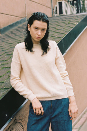 The New Soft Honeycomb Sweater - Peach