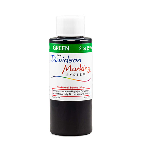 green tissue marking dye - 2oz bottle