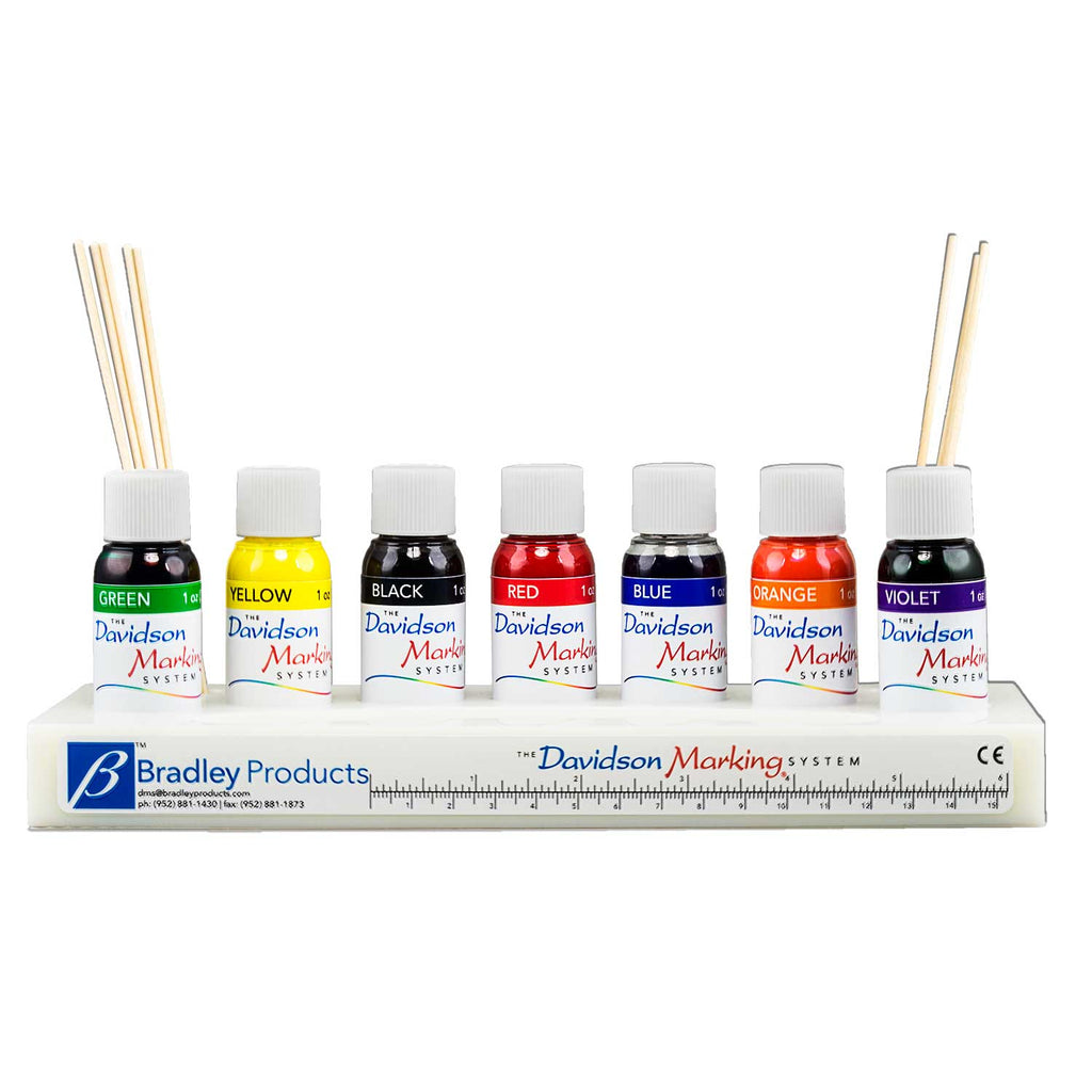 7 color tissue marking dye kit - 1oz bottles, plastic tray