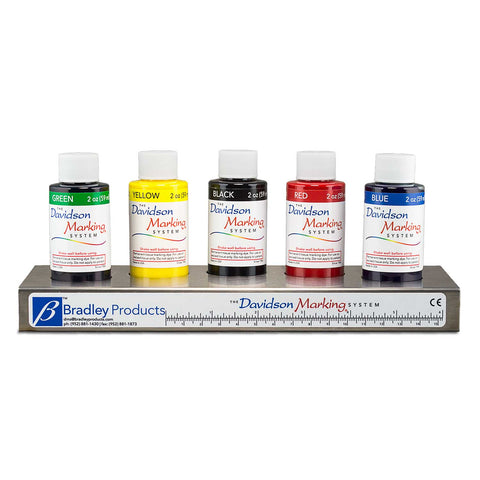 Davidson Marking System© 5-Color Set of 2 oz dyes