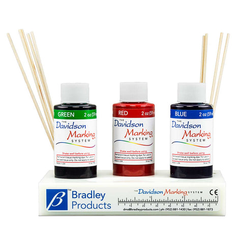 Davidson Marking System© 3-Color Set of 2 oz dyes