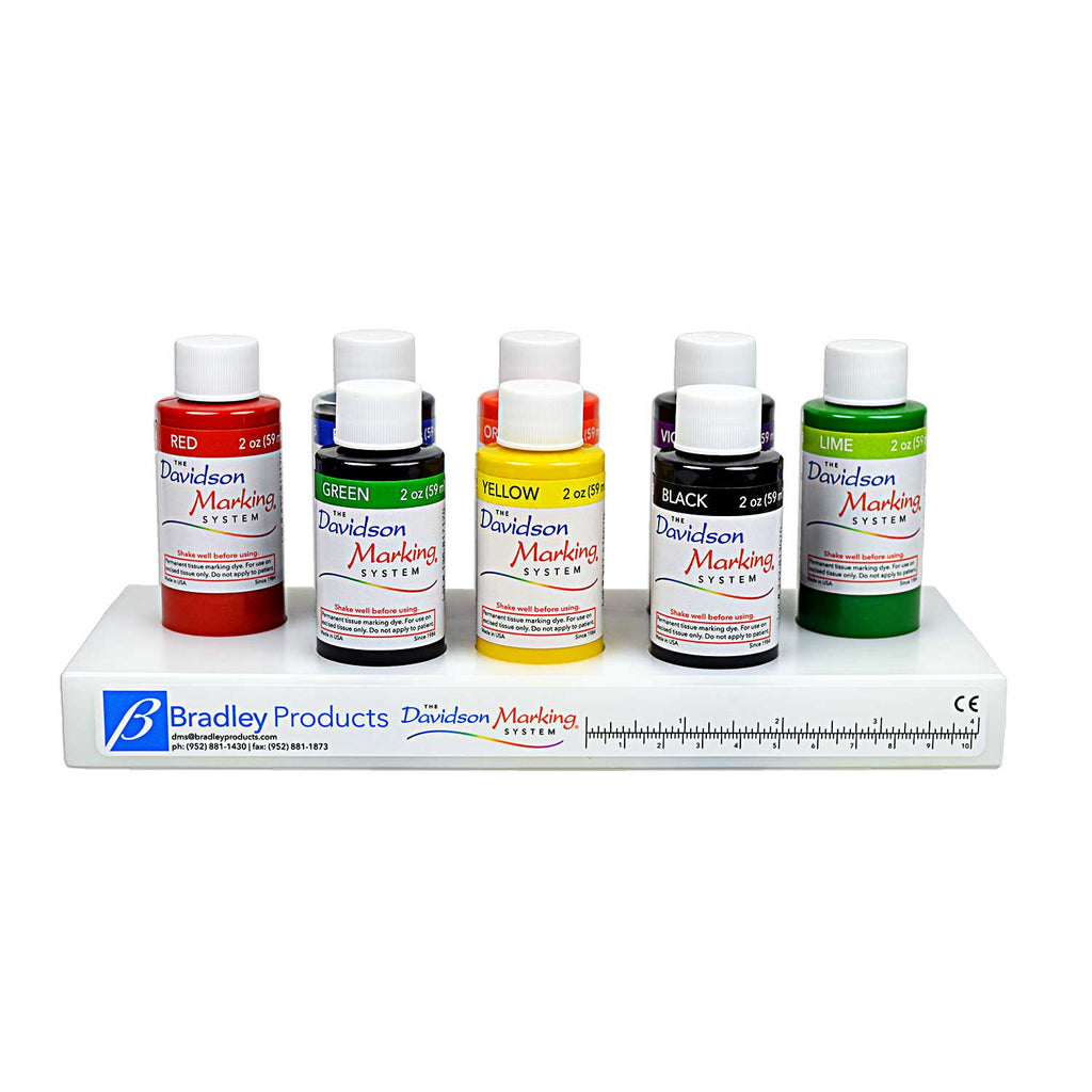 Davidson Marking System® 8-color set of 2oz (59ml) dyes