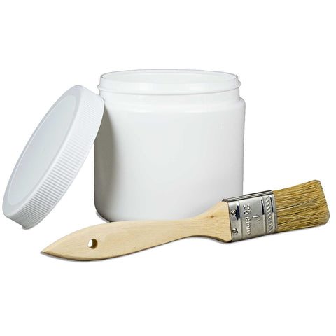 16 oz. jar with 10 1-inch brushes