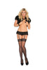 Black Double Layer Garter Belt - SexyLingerieCollection