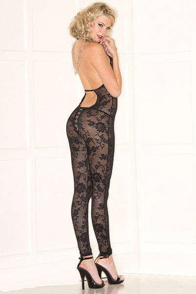 Black Lace Bodystocking
