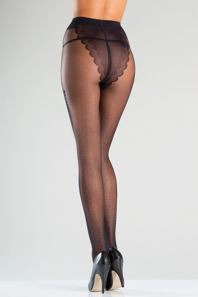 Scalloped Design Bottom Pantyhose