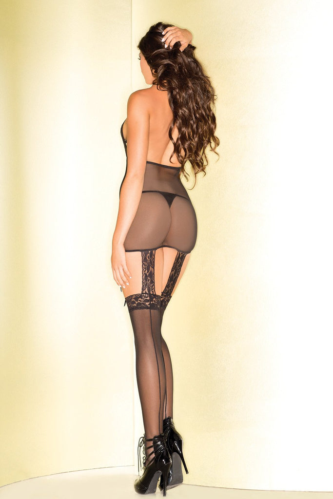 Sheer Floral Bodystocking
