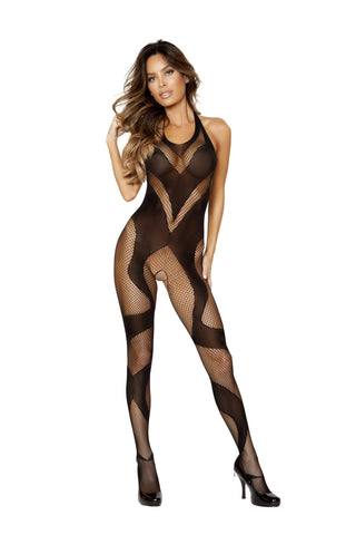 Crotchless Long Sleeved Bodystocking