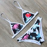 Flowers and Leaves Bikini Set