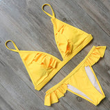 Ruffle Detailing Bikini Set - SexyLingerieCollection