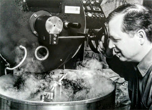 Terry roasting coffee