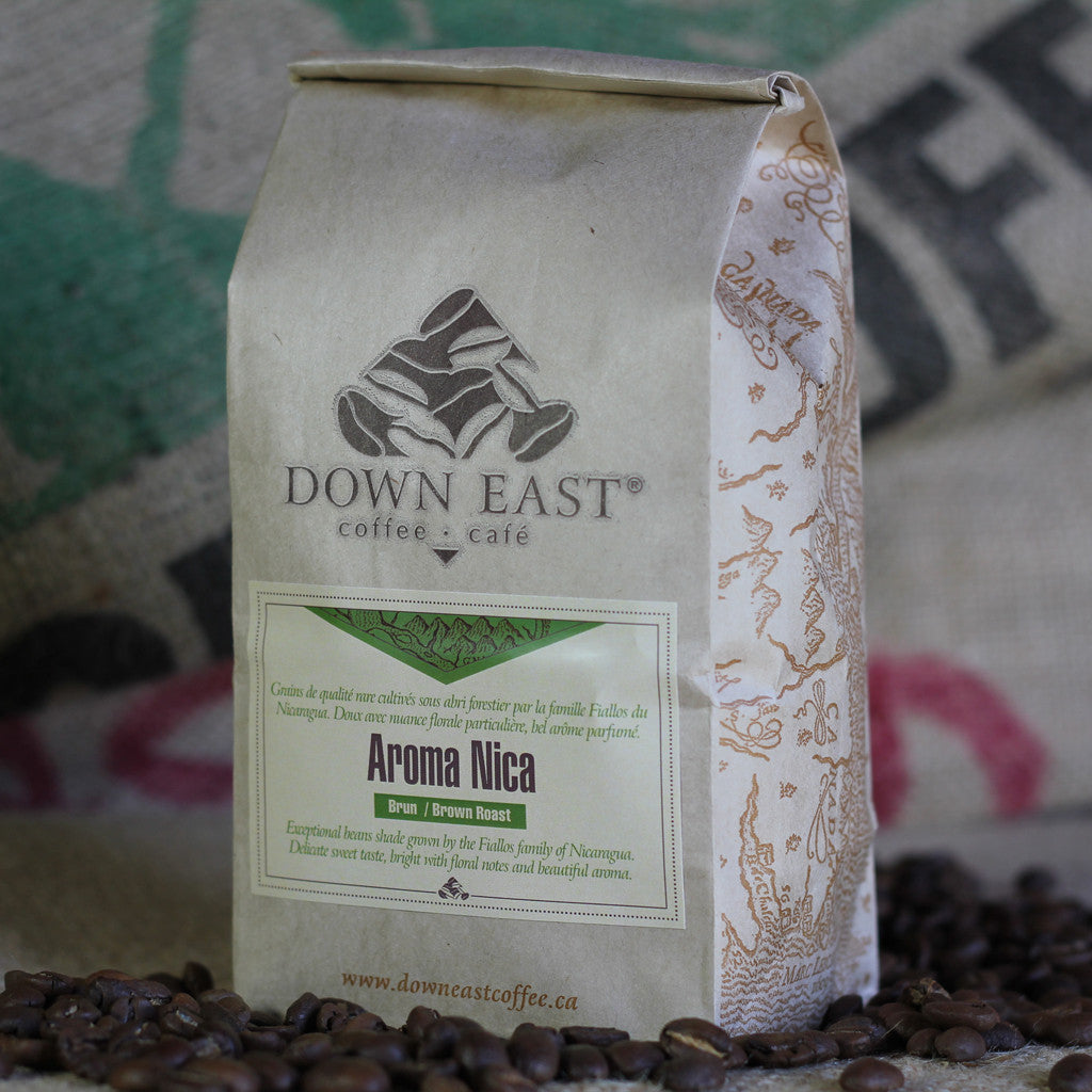 Shade grown AROMA NICA - Brown coffee pouchh