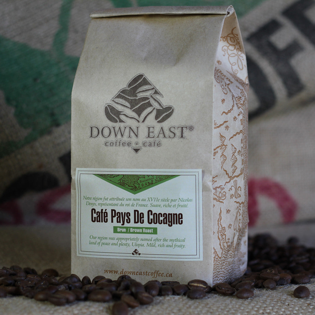 Café Pays de Cocagne a pouch of signature coffee blend