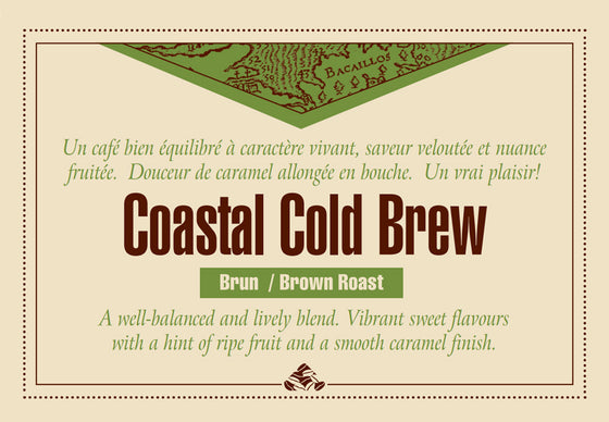 Cold brew coffee beans from Down East Coffee Roasters Coastal Cold Brew