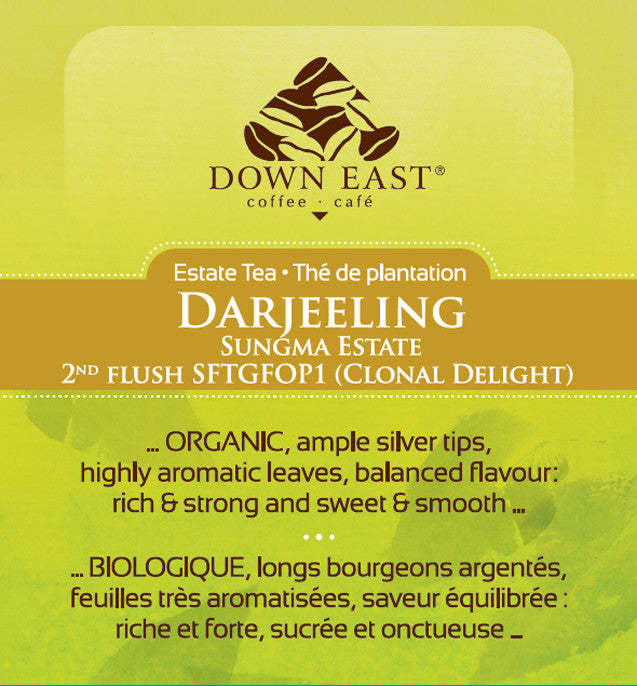 BLACK TEA LABEL: Darjeeling Sungma Estate Loose Leaf Tea - black - Down East Coffee Roasters