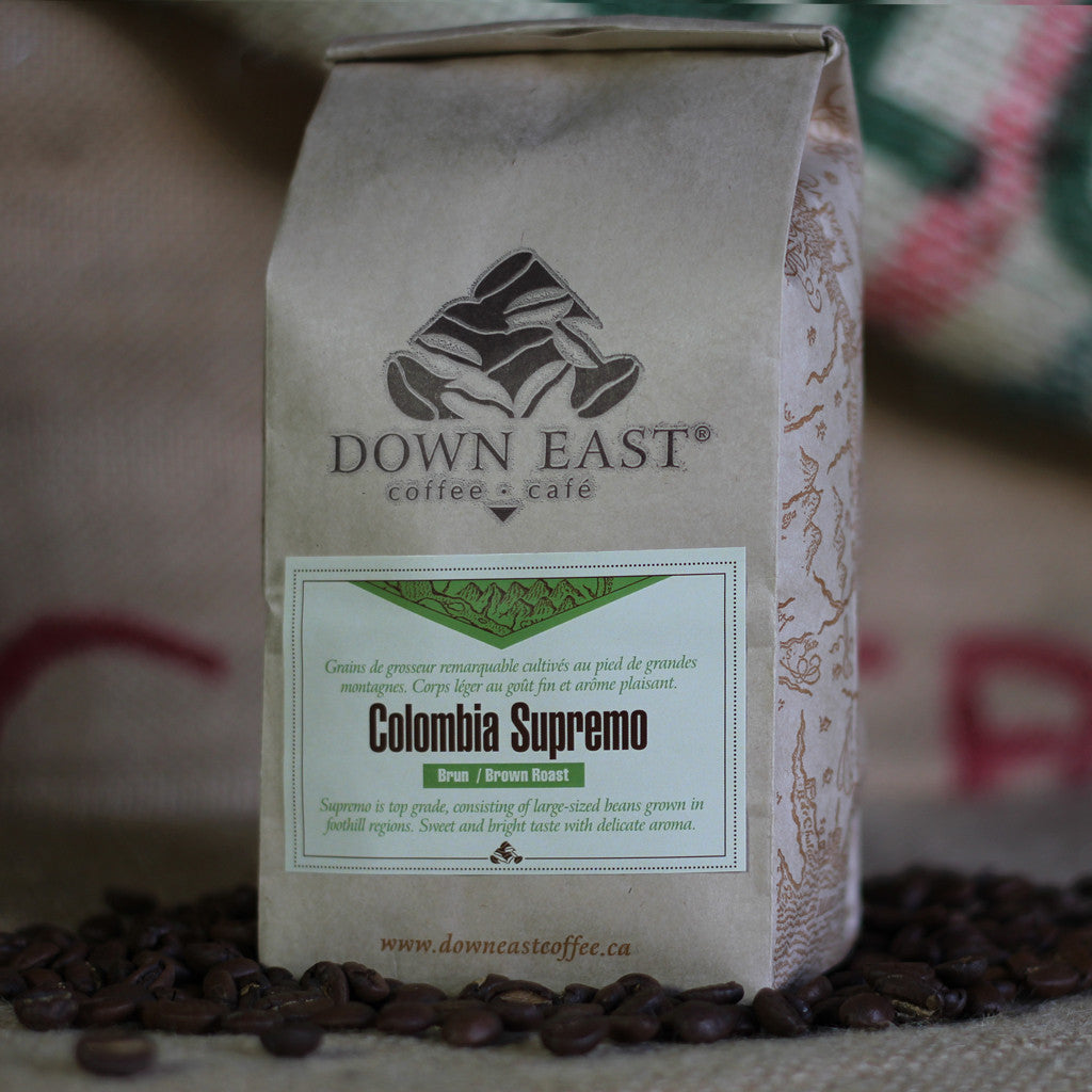 Colombia Supremo Down East coffee pouch