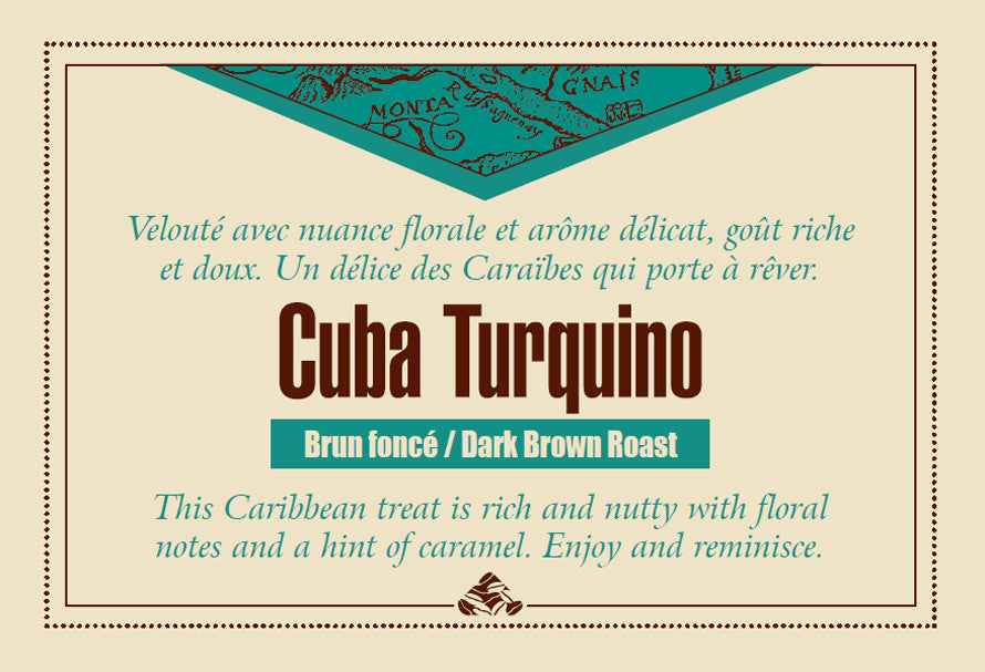 Cuba Turquino Down East coffee label