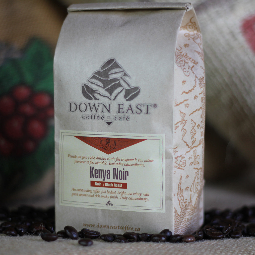 Kenya Noir Down East coffee pouch