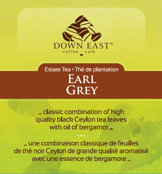 BLACK TEA LABEL: Earl Grey - Loose Leaf Tea - black - Down East Coffee Roasters