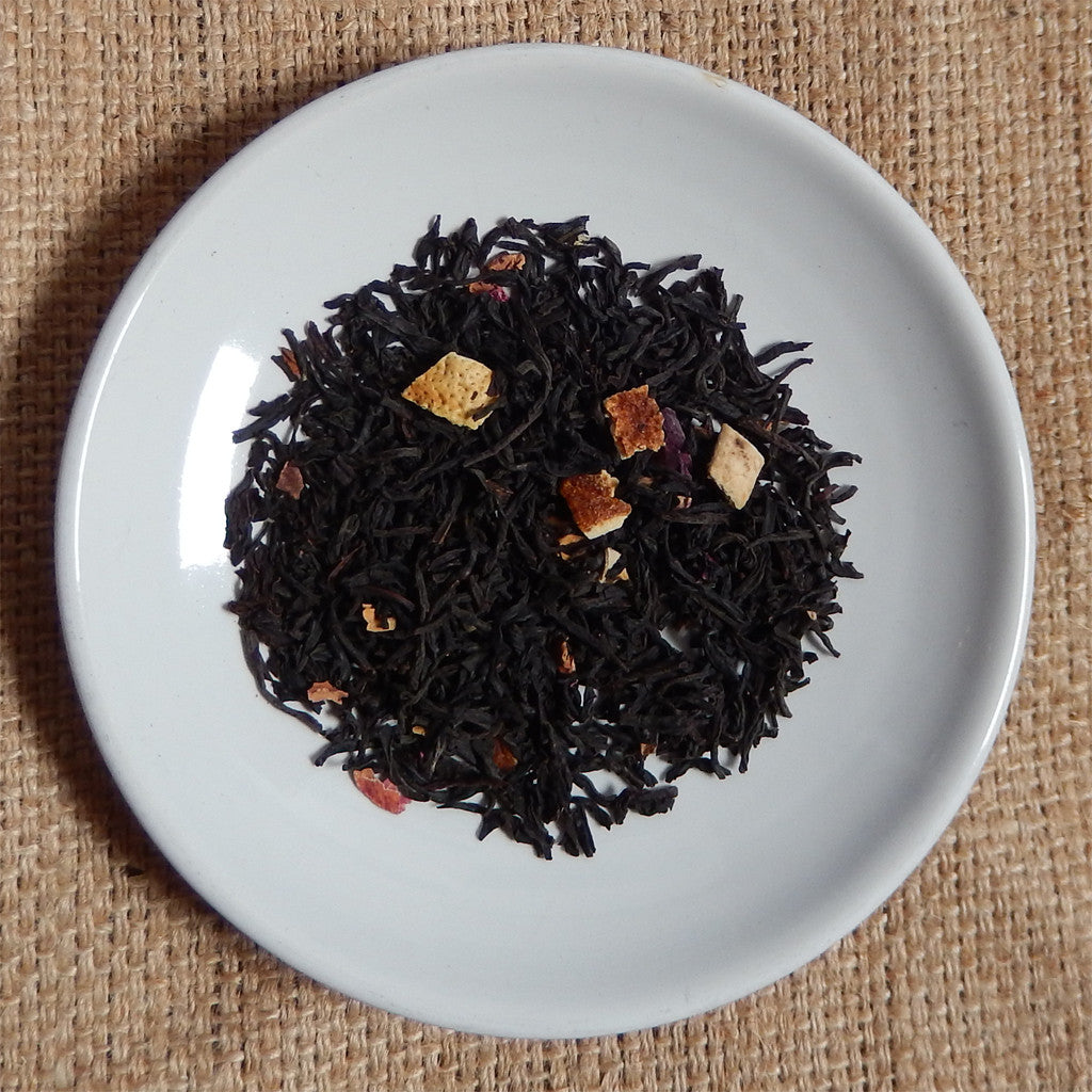 BLACK TEA LEAVES: Lady Grey Loose Leaf Tea - black - Down East Coffee Roasters