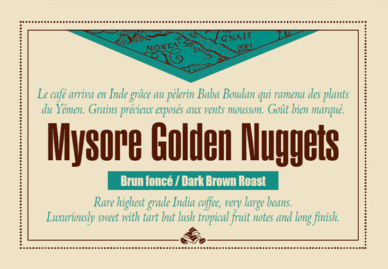 MYSORE GOLDEN NUGGETS label