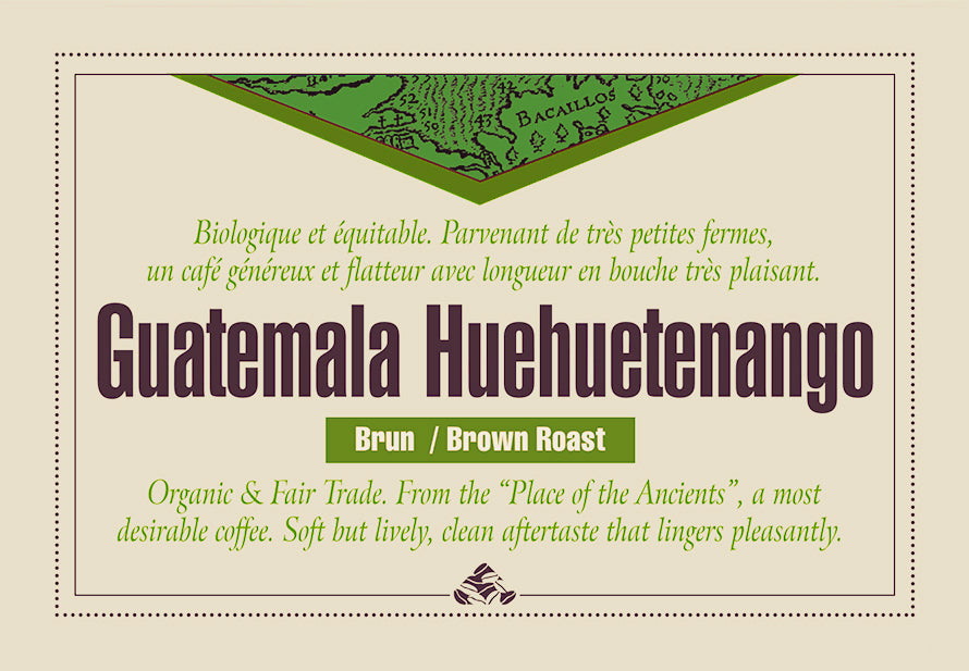 Guatemala Huehuetenango brown roast coffee