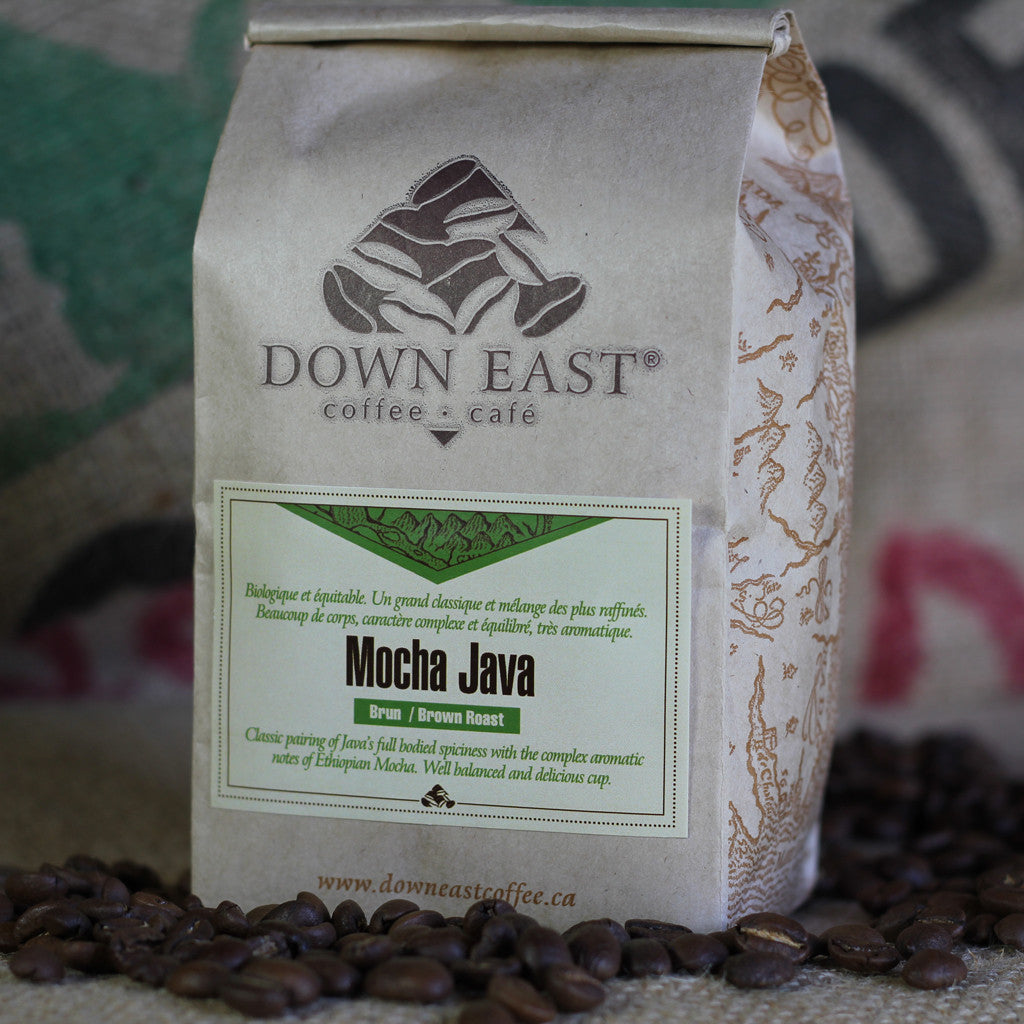 Mocha Java Organic Fair Trade coffee pouch