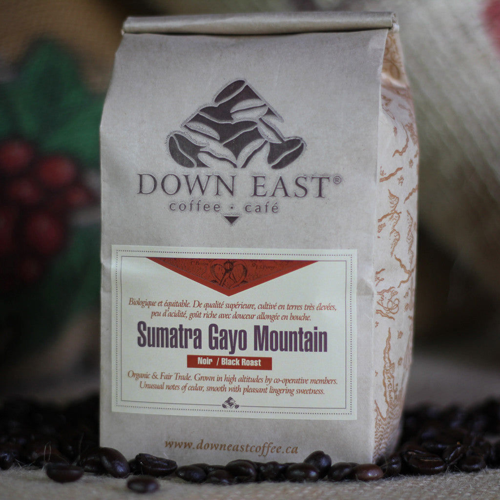 Sumatra Gayo Mountain coffee pouch