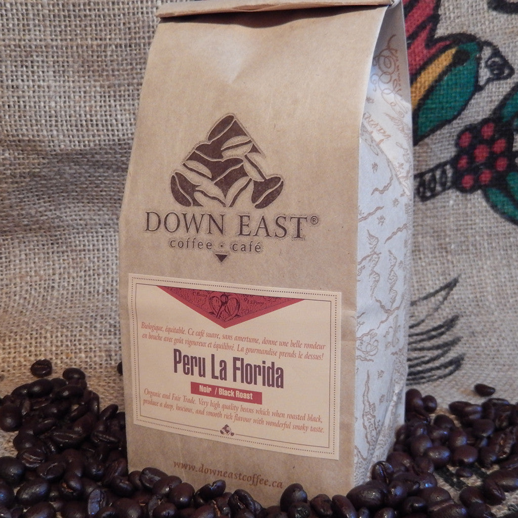Peru La Florida Organic Fair Trade Black roast pouch