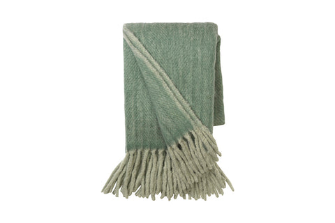 Moss Mohair Melange Throw