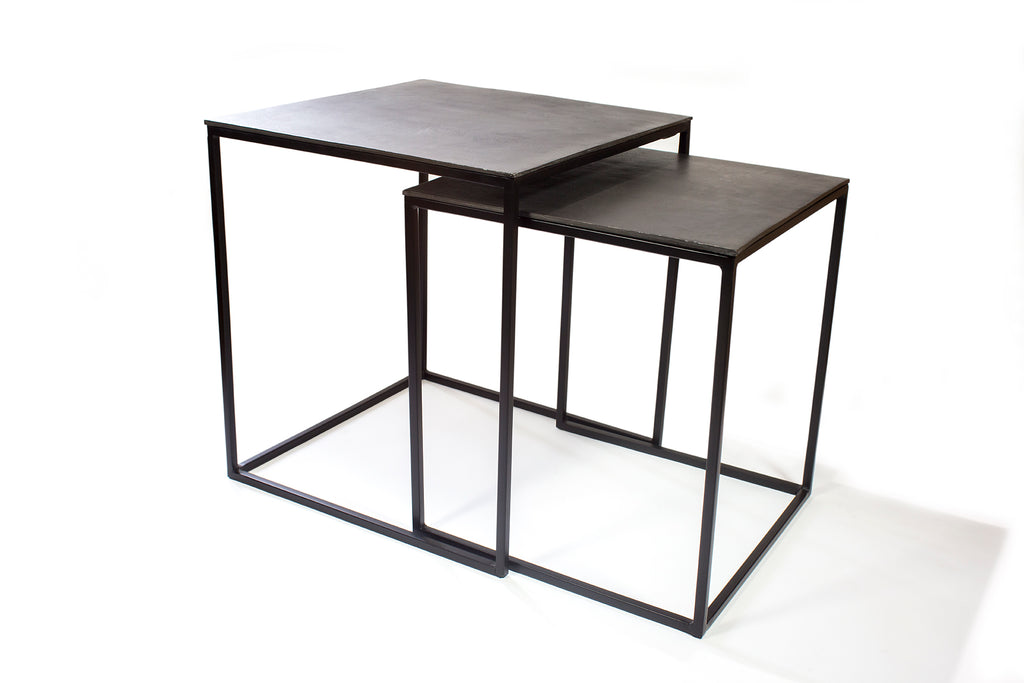Banos Raw Lead Side Tables