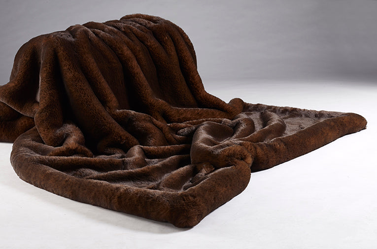 Brown Bear Faux Fur Throw