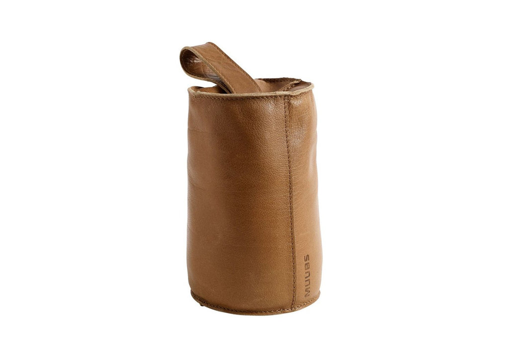 Camel Leather Door Stop