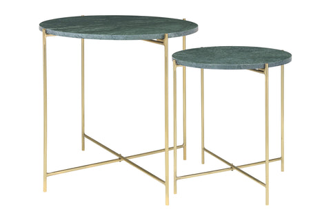 Green Marble Side Tables