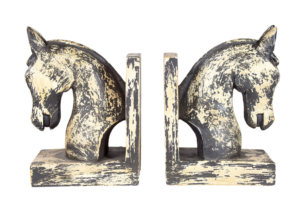 Rustic Horse Bookends