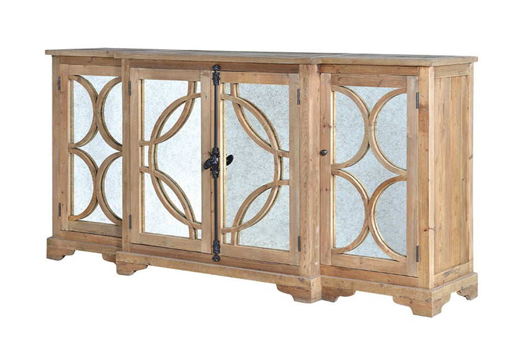 Antiqued Mirrored Sideboard