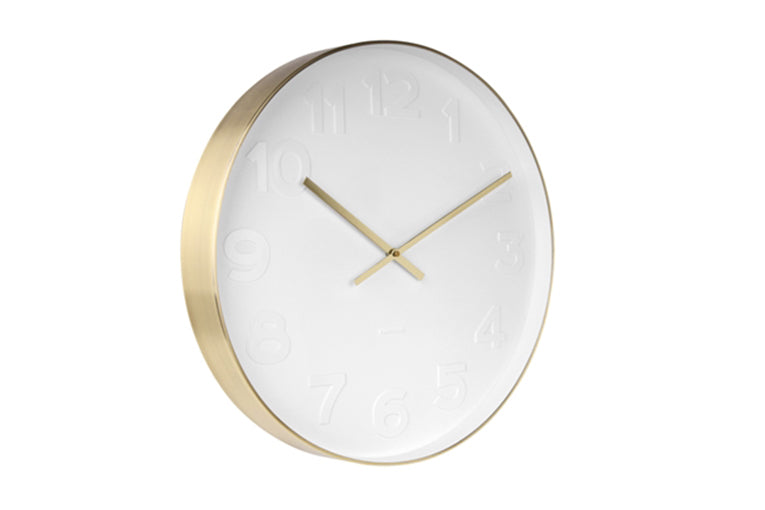 Mr White & Gold Clock