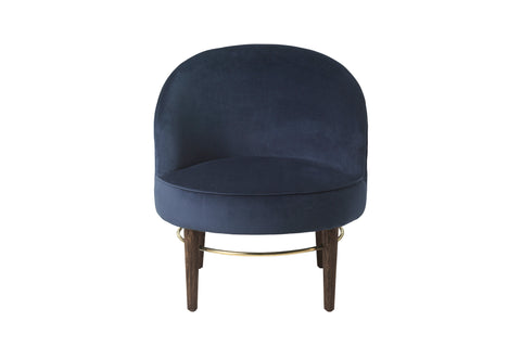 Navy Club Chair