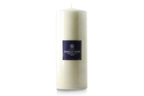 Ivory Pillar Candles by Charles Farris