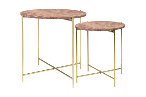 Pink Marble Side Tables