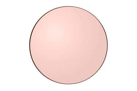 Dusty Rose Gold Round Mirror