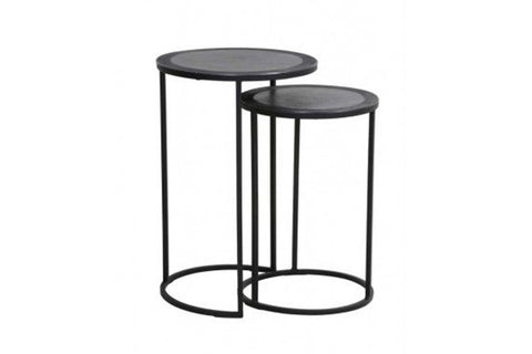 Armas Antik Lead Side Tables