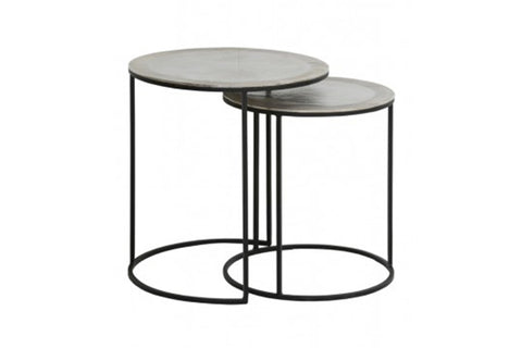 Armas Raw Nickel Side Tables