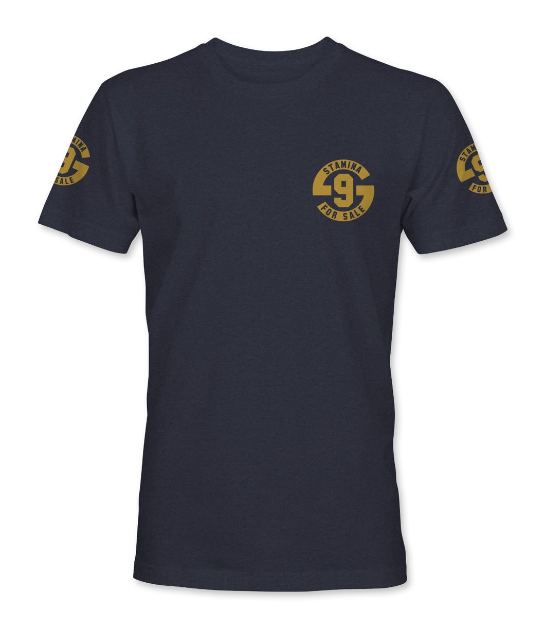 Stamina for Sale - Navy with Metallic Gold Print - Original