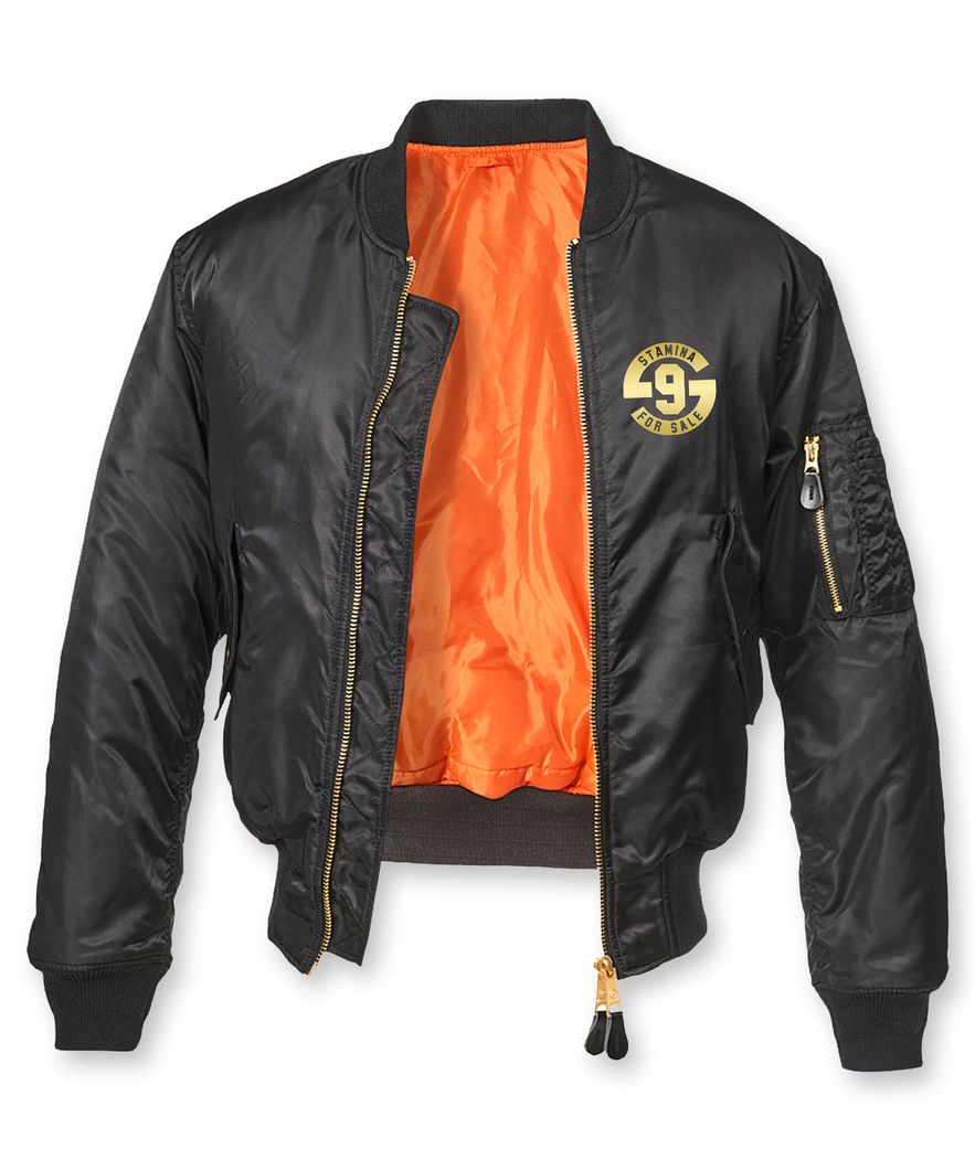 Stamina for Sale MA1 Bomber Jacket - Metallic Gold Print